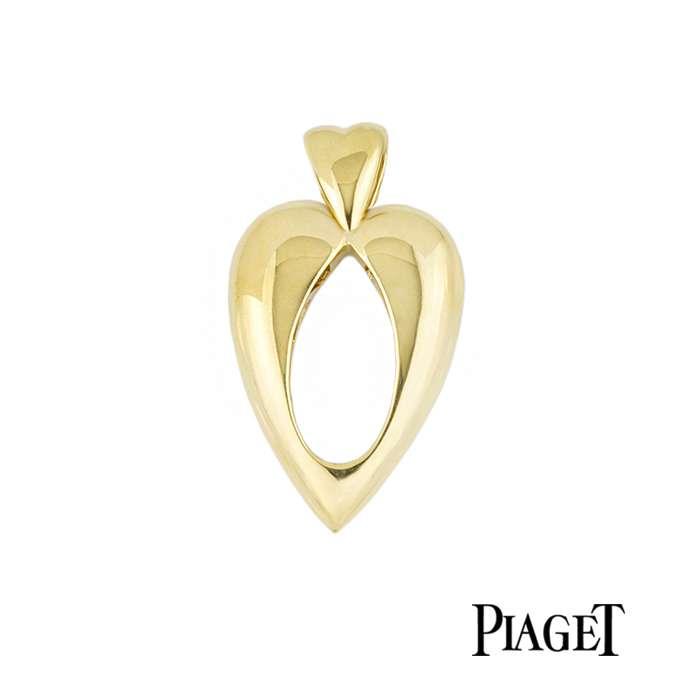 Piaget 18k Yellow Gold Heart Pendant